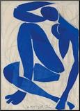 Nu Bleu IV Monteret tryk af Henri Matisse