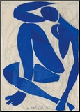 Nu Bleu IV Kunst op hout van Henri Matisse