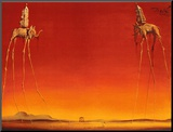 The Elephants, c.1948 Mounted Print by Salvador Dalí