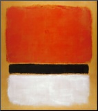 Untitled (Red, Black, White on Yellow), 1955 Kunst op hout van Mark Rothko