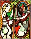 Mujer frente al espejo, c.1932 Lámina montada en tabla por Pablo Picasso