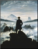 The Wanderer Above the Sea of Fog, c.1818 Mounted Print by Caspar David Friedrich