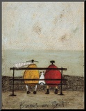 Bums on Seat Mounted Print by Sam Toft