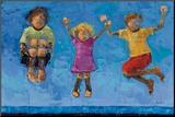 Jump Monteret tryk af Rebecca Kinkead
