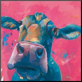 Pink Lady Mounted Print by Pete Hawkins