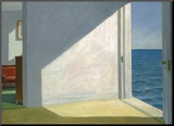 Rooms by the Sea Kunst op hout van Edward Hopper