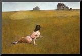 Christina's World, 1948 Monteret tryk af Andrew Wyeth
