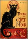 Tournée du Chat Noir, ca 1896 Kunst op hout van Théophile Alexandre Steinlen