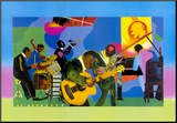 Jammin' at the Savoy Mounted Print by Romare Bearden