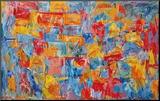 Kort Monteret tryk af Jasper Johns