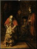 Terugkeer van de verloren zoon, ca. 1669 Kunst op hout van  Rembrandt van Rijn