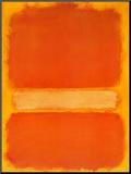 Sin título, c.1956 Lámina montada en tabla por Mark Rothko