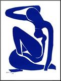 Blå akt I, c. 1952 Montert trykk av Henri Matisse