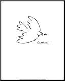 Fredsdue Monteret tryk af Pablo Picasso
