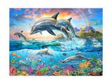 Dolphin Family Giclée-Premiumdruck von Adrian Chesterman