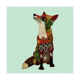 Fox Love Print by Sharon Turner