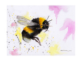 Bumble Bee Watercolor Stampe di Sarah Stribbling