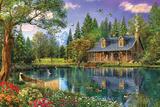 Crystal Lake Cabin Plakater av Dominic Davison