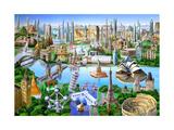 World Landmarks Láminas por Adrian Chesterman