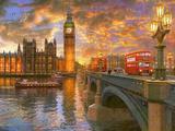 Westminster Sunset Affiches par Dominic Davison