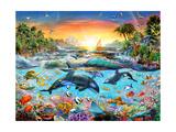 Orca Paradise Lámina giclée prémium por Adrian Chesterman