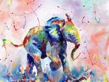 African Elephant Baby Stampa di Sarah Stribbling