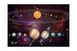 Solar System 1 (Variant 1) Poster von Garry Walton