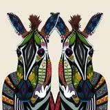 Zebra Love Ivory Poster van Sharon Turner