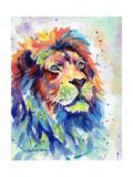 Multicolour Lion Schilderij van Sarah Stribbling