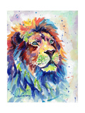 Multicolour Lion Poster di Sarah Stribbling