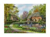 Meadow Cottages Premium Giclee-trykk av Dominic Davison