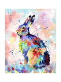 Abstract Hare Print by Sarah Stribbling