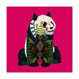 Sitting Panda (Variant 2) Premium gicléedruk van Sharon Turner