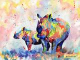Rinocerontes Láminas por Sarah Stribbling