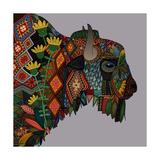 Bison Heather Print van Sharon Turner