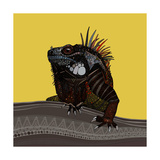 Iguana Gold Posters by Sharon Turner