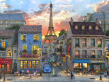 Streets of Paris Poster von Dominic Davison