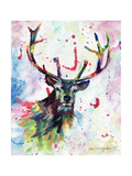 Stag Print by Sarah Stribbling
