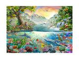 Land and Water Utopia Lámina giclée prémium por Adrian Chesterman