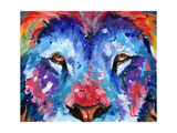 Lion Abstract Poster di Sarah Stribbling