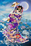 Tsuki Hoshi (Variant 1) Posters by Haruyo Morita