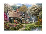 Victorian Garden Cottage Art by Dominic Davison