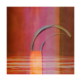 Abstract Right Bow on Red Print van Joost Hogervorst