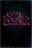 Girl Power (Vertical Neon Glow) Poster