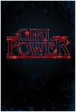 Girl Power (Vertical Neon Glow) Posters