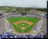 Dodger Stadium Stretched Canvas Print