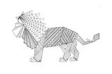 Origami 12 Kunstdruck von Neeti Goswami