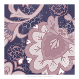 Paisley Blossom Mauve II Poster by Leslie Mark