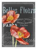 Chalkboard Fleurs I Affiches par  Redstreake