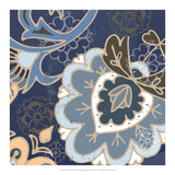 Paisley Blossom Blue II Posters by Leslie Mark